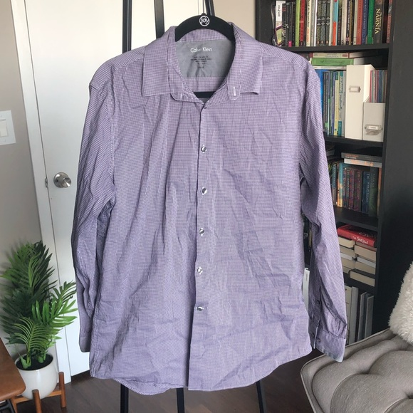 Calvin Klein Other - 😊3/$20 Purple Calvin Klein Casual Button Down